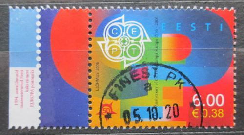 Poštovní známka Estonsko 2006 Výroèí Evropa CEPT, 50. výroèí Mi# 537