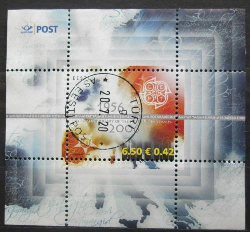 Poštovní známka Laos 1959 Chrám That Luang Mi# 101Estonsko 2006 Evropa CEPT, 50. výroèí Mi# Block 24