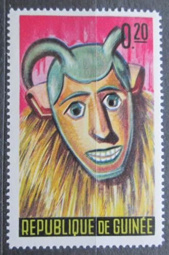 Poštovní známka Guinea 1965 Taneèní maska Mi# 274