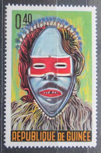 Poštovní známka Guinea 1965 Taneèní maska Mi# 275