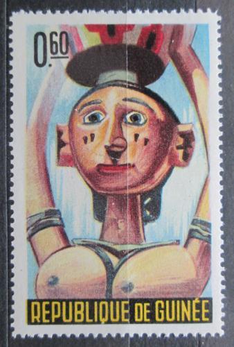 Poštovní známka Guinea 1965 Taneèní maska Mi# 276