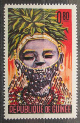 Poštovní známka Guinea 1965 Taneèní maska Mi# 277