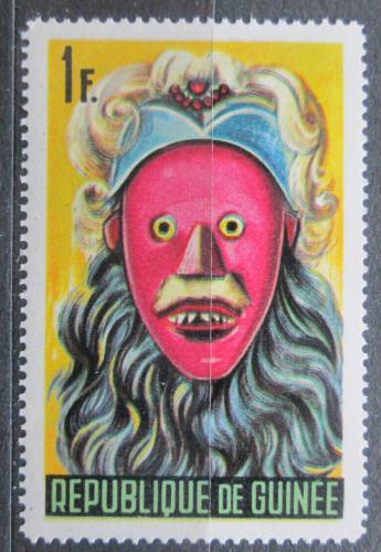 Poštovní známka Guinea 1965 Taneèní maska Mi# 278
