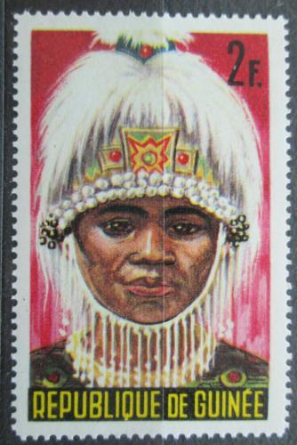 Poštovní známka Guinea 1965 Taneèní maska Mi# 279