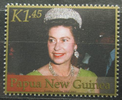 Poštovní známka Papua Nová Guinea 2002 Královna Alžbìta II. Mi# 917