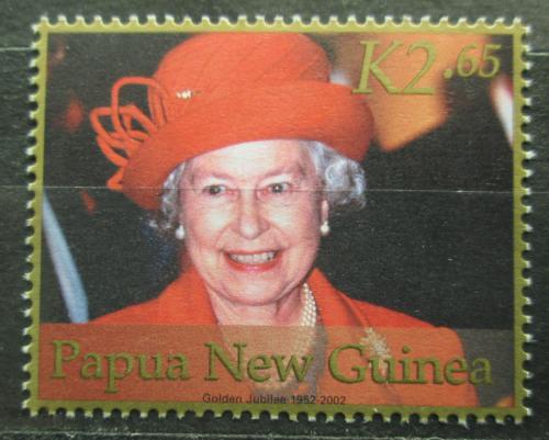 Poštovní známka Papua Nová Guinea 2002 Královna Alžbìta II. Mi# 919