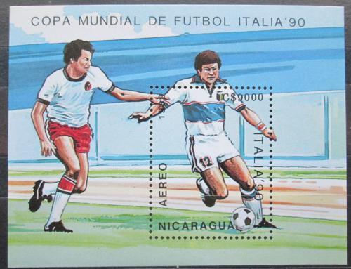 Poštovní známka Nikaragua 1989 MS ve fotbale Mi# Block 183
