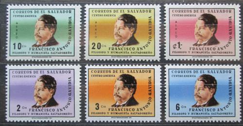 Poštovní známky Salvador 1965 Francisco Antonio Gavidia, spisovatel Mi# 906-11