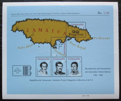 Poštovní známky Venezuela 1979 Mapa Jamajky Mi# Block 24
