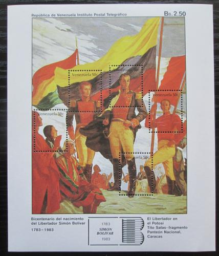 Poštovní známky Venezuela 1983 Umìní, Bolívar v Potosí Mi# Block 31