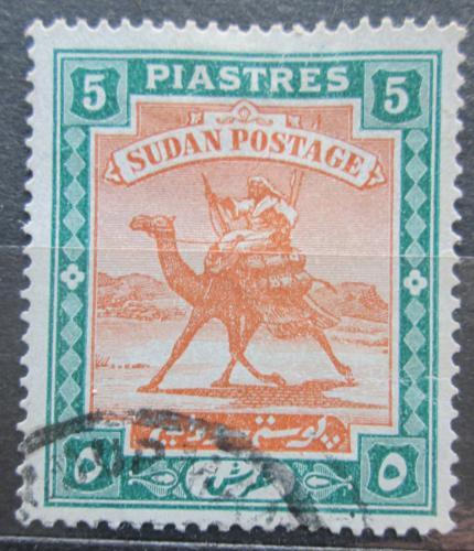 Poštovní známka Súdán 1908 Jezdec na velbloudovi Mi# 26