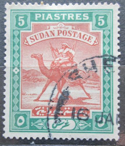 Poštovní známka Súdán 1927 Jezdec na velbloudovi Mi# 46