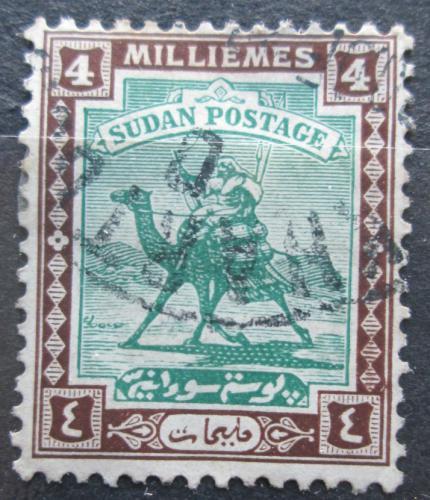 Poštovní známka Súdán 1922 Jezdec na velbloudovi Mi# 32
