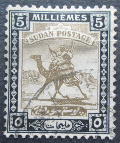 Poštovní známka Súdán 1922 Jezdec na velbloudovi Mi# 33