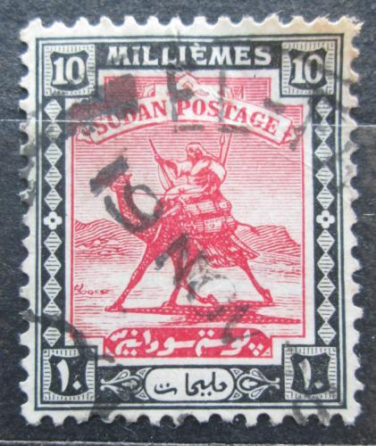 Poštovní známka Súdán 1922 Jezdec na velbloudovi Mi# 34