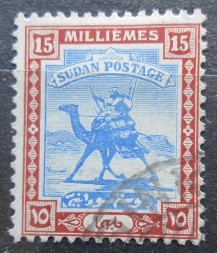 Poštovní známka Súdán 1921 Jezdec na velbloudovi Mi# 35