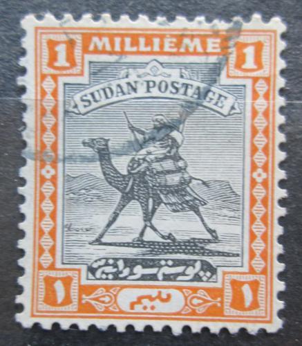 Poštovní známka Súdán 1927 Jezdec na velbloudovi Mi# 36