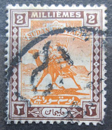 Poštovní známka Súdán 1927 Jezdec na velbloudovi Mi# 37