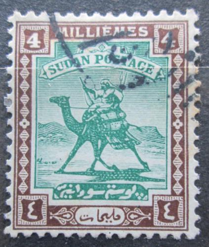 Poštovní známka Súdán 1927 Jezdec na velbloudovi Mi# 39