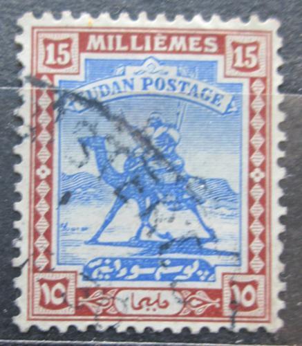 Poštovní známka Súdán 1928 Jezdec na velbloudovi Mi# 42