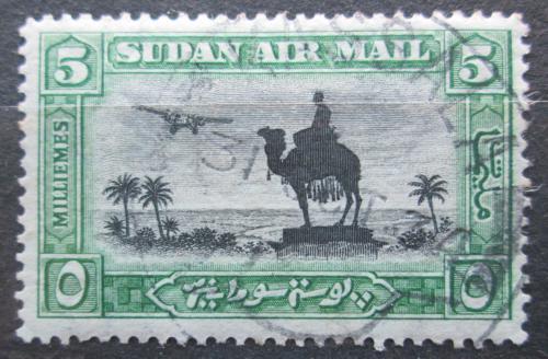 Poštovní známka Súdán 1931 Jezdec na velbloudovi a letadlo Mi# 55 A