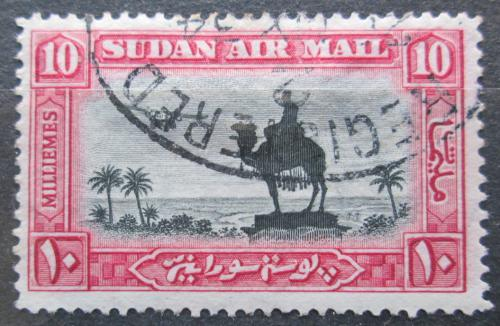 Poštovní známka Súdán 1931 Jezdec na velbloudovi a letadlo Mi# 56 A