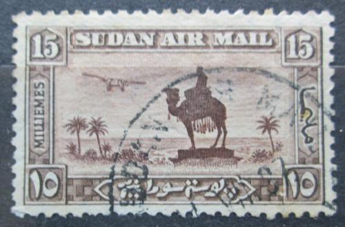 Poštovní známka Súdán 1931 Jezdec na velbloudovi a letadlo Mi# 57 A