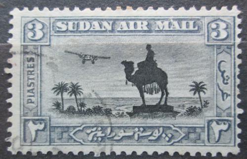 Poštovní známka Súdán 1931 Jezdec na velbloudovi a letadlo Mi# 60 A