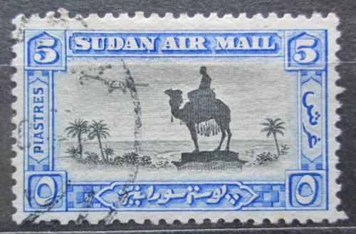 Poštovní známka Súdán 1931 Jezdec na velbloudovi a letadlo Mi# 63 A