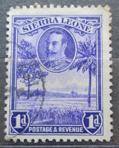 Poštovní známka Sierra Leone 1932 Rýžové pole Mi# 119
