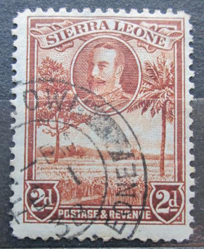 Poštovní známka Sierra Leone 1932 Rýžové pole Mi# 121