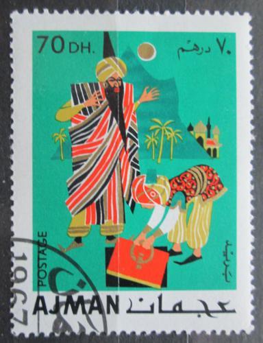 Poštovní známka Adžmán 1967 Pohádky Tisíce a jedné noci Mi# 171