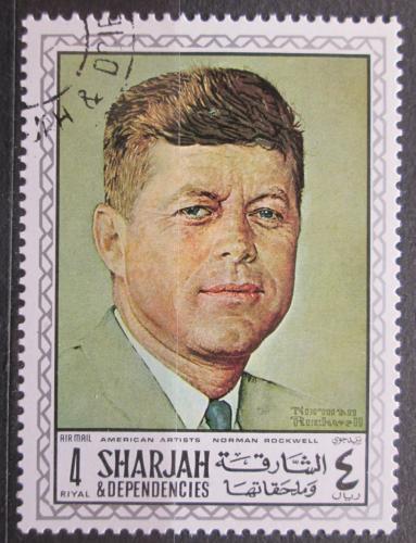 Poštovní známka Šardžá 1968 Prezident John F. Kenndy Mi# 454