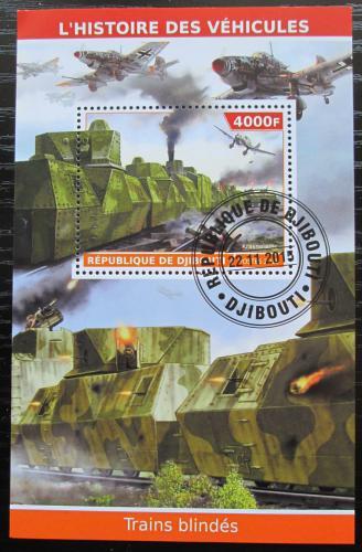 Poštovní známka Džibutsko 2015 Vojenský vlak Mi# N/N