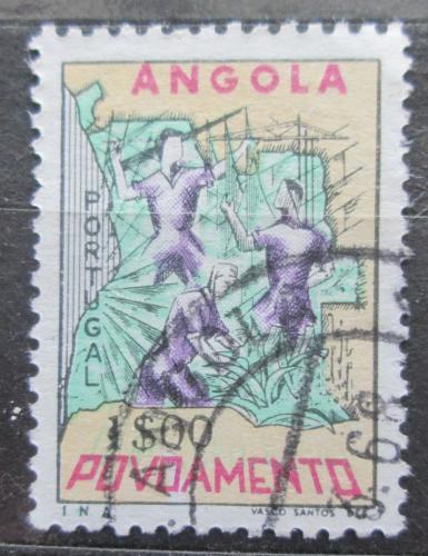 Poštovní známka Angola 1965 Mapa, daòová Mi# 23