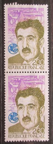Poštovní známky Francie 1990 Max Hymans, pár Mi# 2760