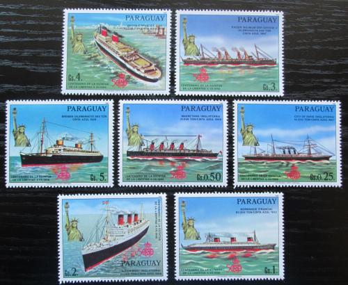 Poštovní známky Paraguay 1986 Lodì a Socha svobody Mi# 4003-09