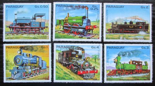 Poštovní známky Paraguay 1983 Parní lokomotivy Mi# 3579-84 Kat 6€