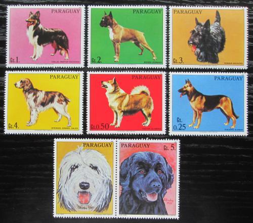 Poštovní známky Paraguay 1986 Psi s kupónem Mi# 4012-18