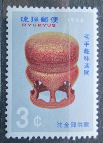 Poštovní známka Rjúkjú 1966 Týden filatelie Mi# 175
