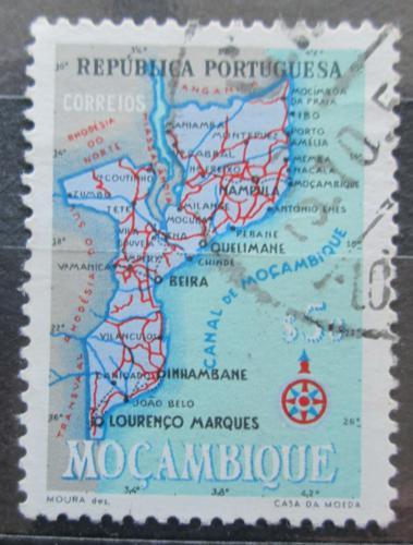Poštovní známka Mosambik 1954 Mapa Mi# 443