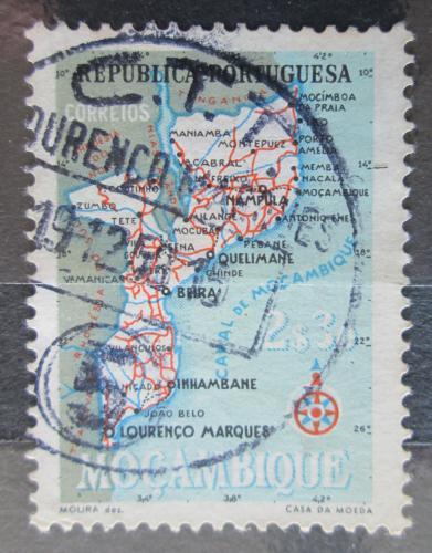 Poštovní známka Mosambik 1954 Mapa Mi# 445