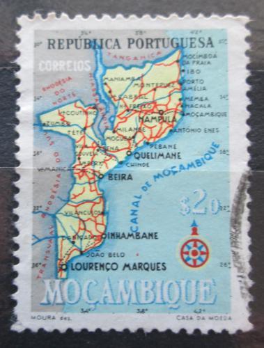 Poštovní známka Mosambik 1954 Mapa Mi# 442