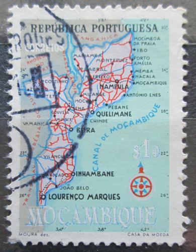 Poštovní známka Mosambik 1954 Mapa Mi# 441
