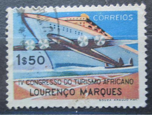 Poštovní známka Mosambik 1952 Parník a letadlo Mi# 413