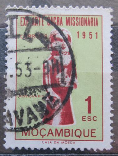 Poštovní známka Mosambik 1953 Socha misionáøe Mi# 415