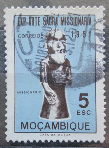 Poštovní známka Mosambik 1953 Socha misionáøe Mi# 416