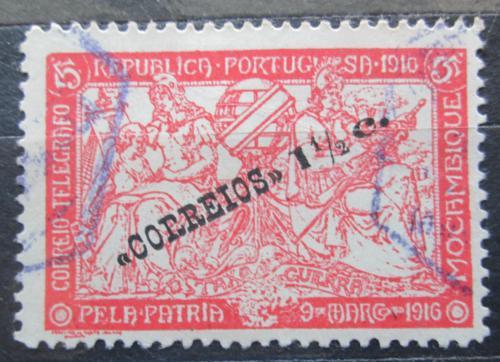 Poštovní známka Mosambik 1920 Váleèné danì pøetisk Mi# 208
