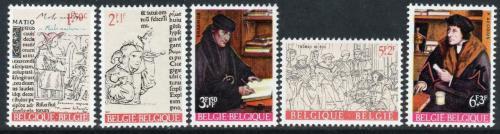 Poštovní známky Belgie 1967 Erasmus a jeho doba Mi# 1484-88