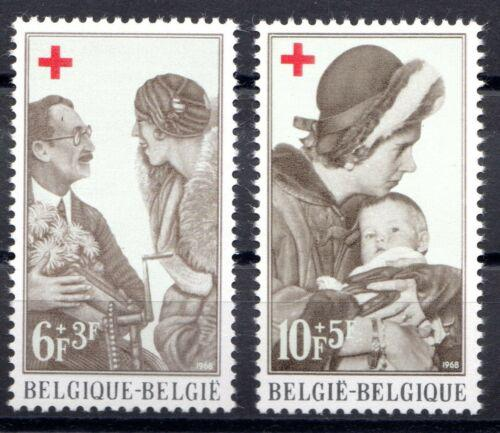 Poštovní známky Belgie 1968 Èervený køíž, královny Mi# 1509-10